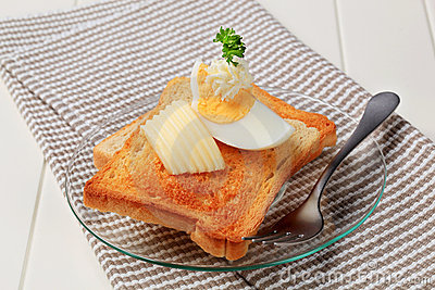 Toasted bread and butter