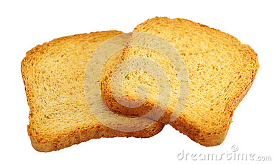 Toasted bread isolated