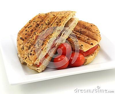 Toasted chicken sandwich