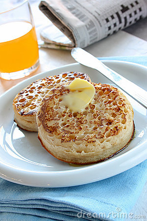 Free Toasted Crumpets Stock Image - 12086361