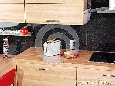 Toaster on the kitchen counter