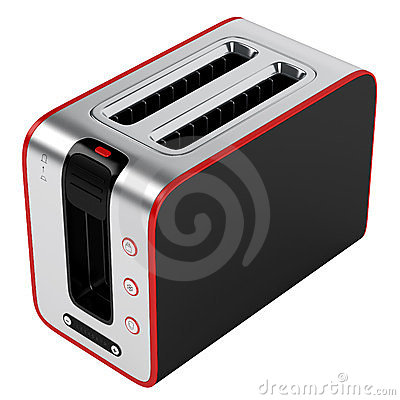 Toaster with red contour