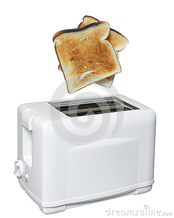 Toaster with toast ready