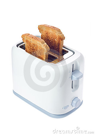 Free Toaster With Slices Of Bread Royalty Free Stock Photos - 2163128