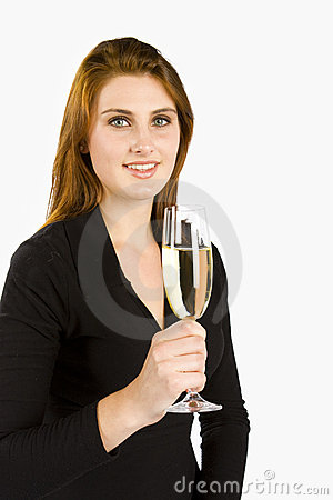 Toasting шампанского