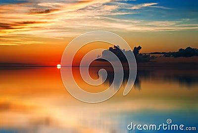 Tobago (Trinidad and Tobago) Sunset reflection