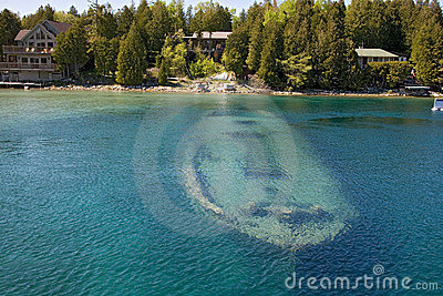 Tobermory boat under water