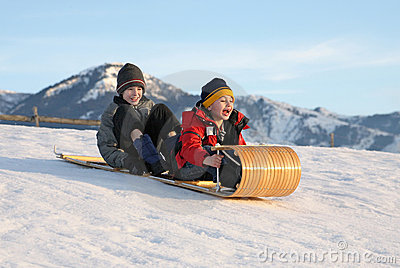 Toboggan for two