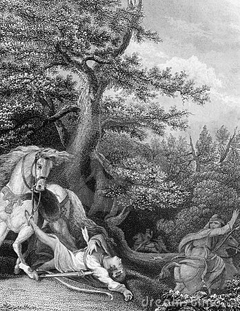 Tod von William Rufus Redaktionelles Foto