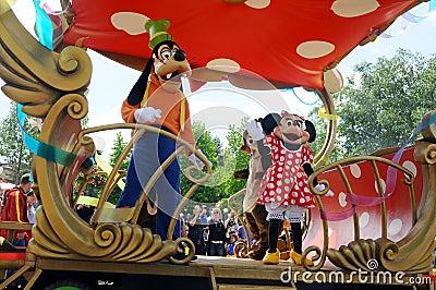 Toda a estrela expressa em Disneylâandia Imagem Editorial
