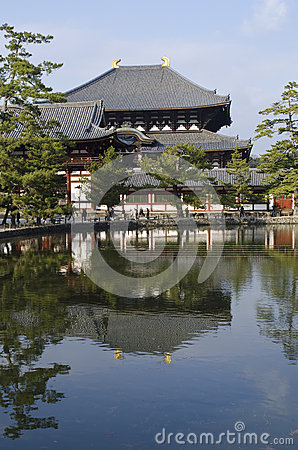 Todai-ji temple in Nara Editorial Photography