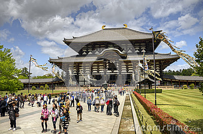 Todai-ji Temple in Nara, Japan Editorial Photography