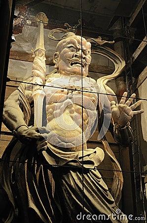 Todaiji Temple Demon Gaurd in Nara, Japan