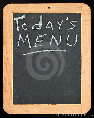 Todays Menu sign