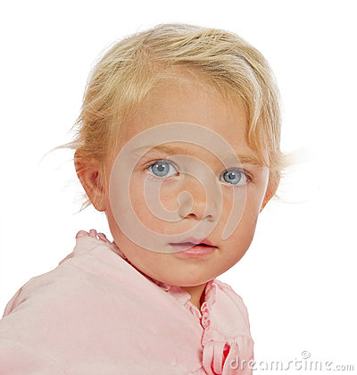 Toddler With Big Blue Eyes