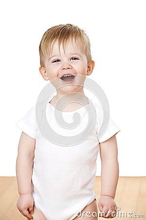 Toddler Boy Laughing