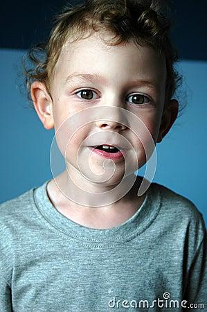 Toddler boy smiling