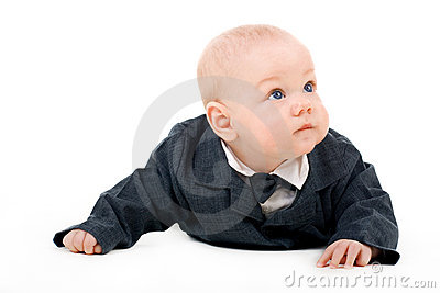 Toddler boy in a suit
