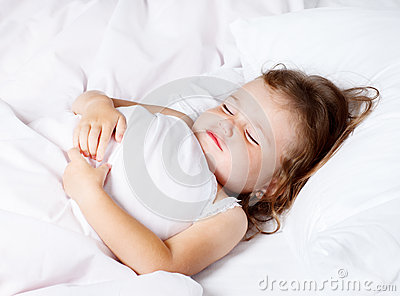 Toddler with closed eyes