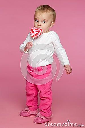 Toddler Eating Lolipop