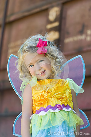 Toddler in Fairy Halloween Costume