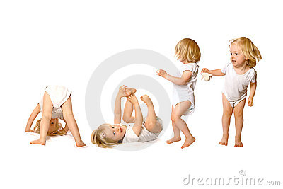 Toddler in fun activity