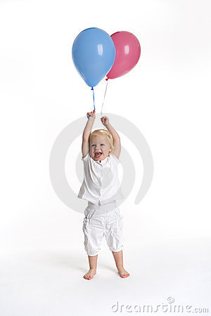 Toddler girl with balloon