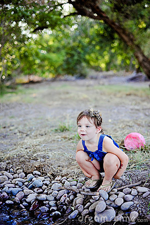 Toddler Girl at Creek