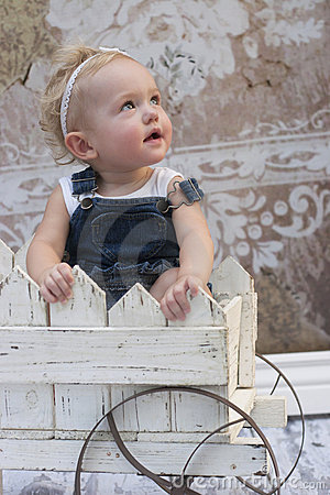 Toddler girl gazing