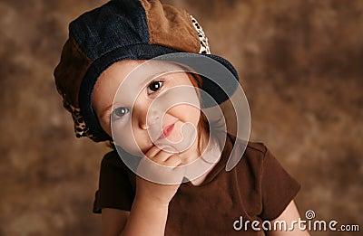 Toddler girl modeling
