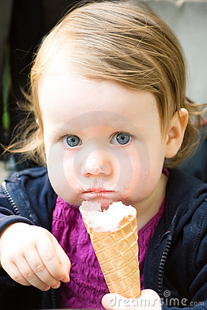 Toddler with icecream