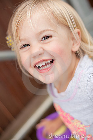 Free Toddler Laughing Stock Photography - 22195872