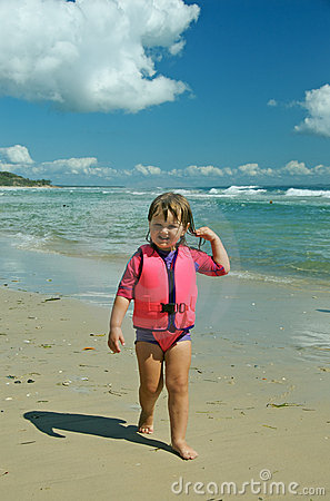 Toddler in life jacket