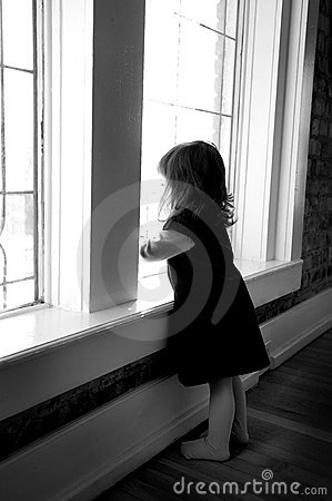 Toddler Looking Out the Window