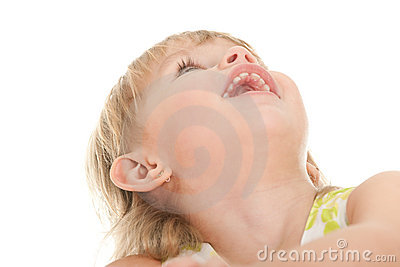 Toddler looking up