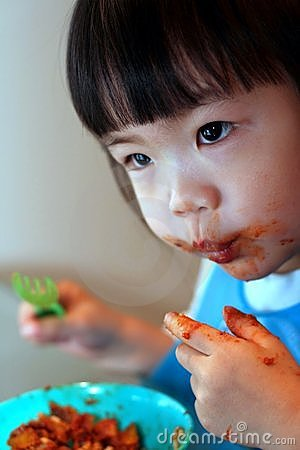 Toddler Messy Eating