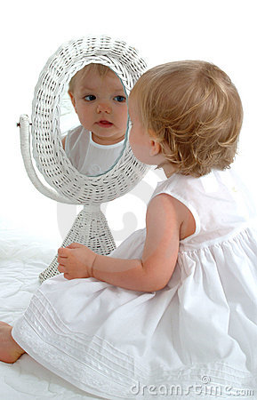 Toddler in Mirror