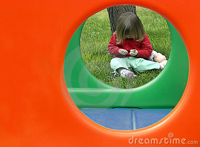Toddler with Play Structure