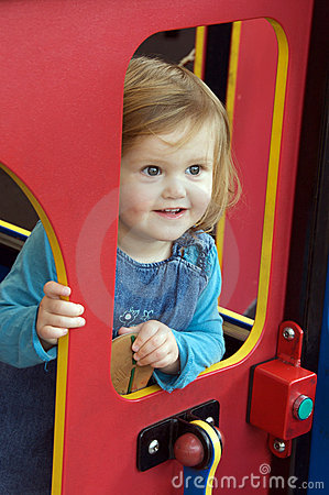 Toddler at playground