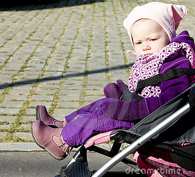 Toddler in pram