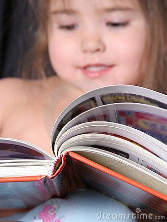 Toddler Reading a Book-2