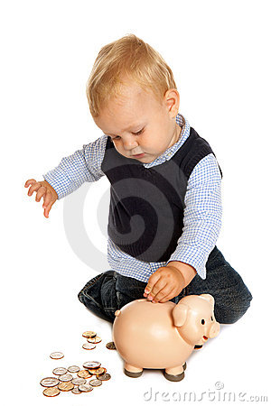Toddler with savings