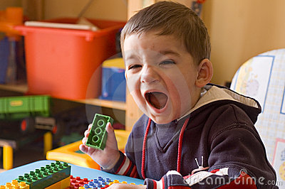 Toddler screaming in his room