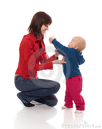 Toddler sharing toy