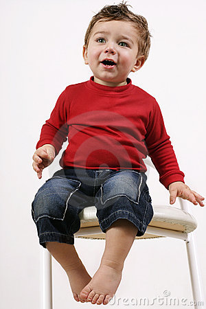 Toddler on stool (2)
