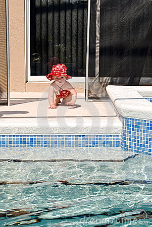 Toddler Swimming Pool Safety Stock Photography Image 30382752