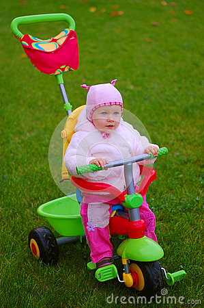 Toddler on a Tricycle