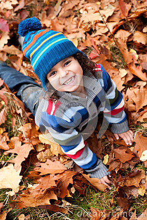 Free Todler Is Smiling In The Autumn Stock Photos - 28294593