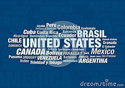 Todos los países americanos