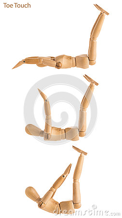 Free Toe Touches Pose Royalty Free Stock Photography - 89189377